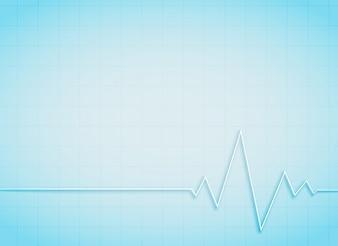 Limpe, médico, saúde, fundo, Coração, batida