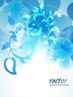 Linda cor azul flor de fundo
