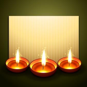 Linda saudação diwali com espaço para o seu texto