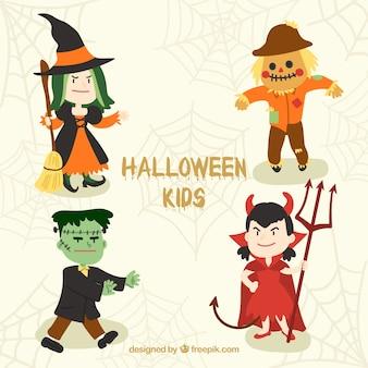 Lindas crianças trajes de Halloween