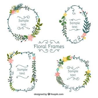 Lindo conjunto de quadros florais