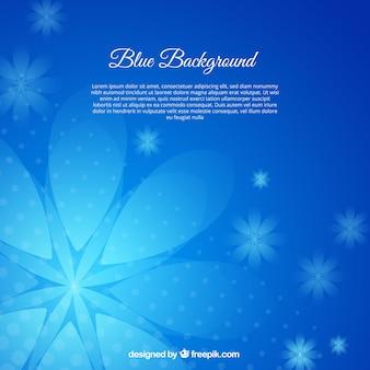 Lindo fundo com flores azuis