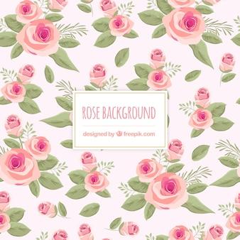 Lindo fundo floral com rosas