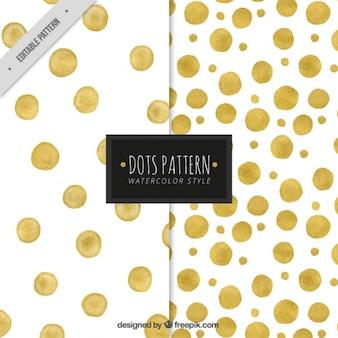 Lindos padrões decorativos de círculos dourados