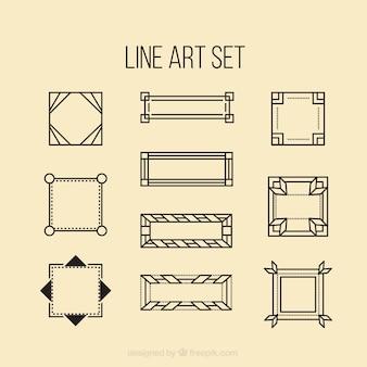 Linha arte geométrica conjunto