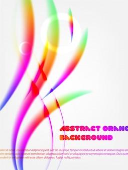 Lisa gráfico néon brilhante abstrato