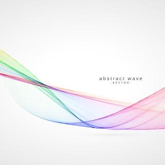 Liso fundo abstrato onda colorida vetor