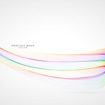 Liso, macio, coloridos, arco íris, onda, vetorial, fundo
