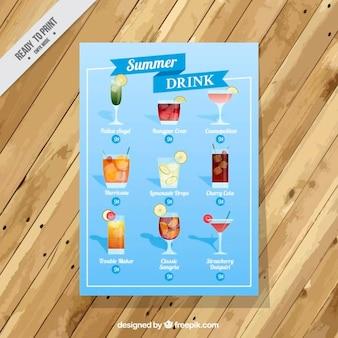Lista de bebida simples verão