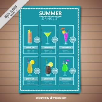 lista de cocktail tropical