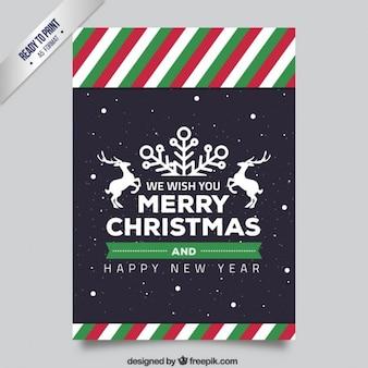 Listrado do Natal panfletos