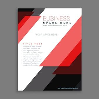 Listras vermelhas relatório anual de negócios folheto poster flyer design template