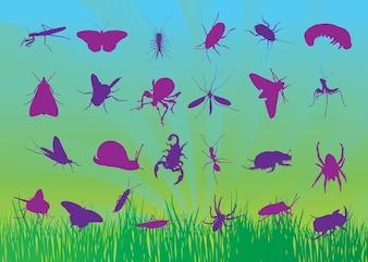 livre de insetos vetores