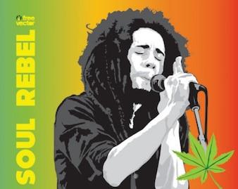 livre do vetor de vetores de Bob Marley