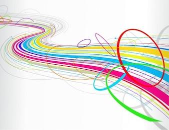 Livre fundo linha abstrata colorida onda