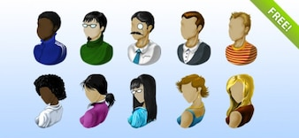 Livres ícones avatar