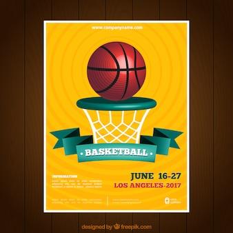 Livreto de basquete amarela