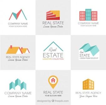 logo templates imobiliários design plano