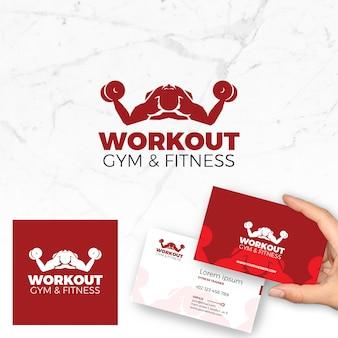 Logo Vector Fitness e Cartão de Negócios