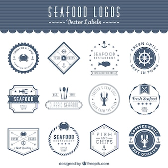 Logos de frutos do mar