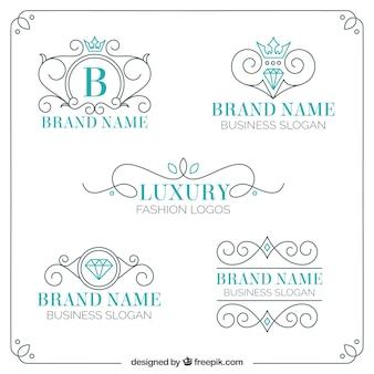 Logos de luxo ornamentais