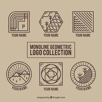 Logos geométricos da natureza monoline