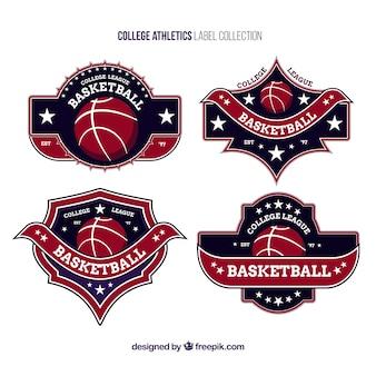 Logos para as equipes de basquete universitário