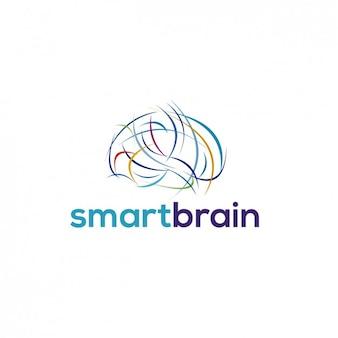 logotipo abstrato cérebro
