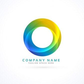 Logotipo abstrato colorido do círculo