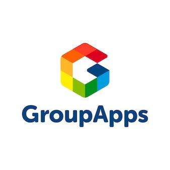 Logotipo abstrato da letra G