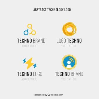 Logotipo abstrato da tecnologia