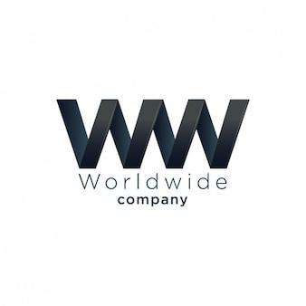 Logotipo abstrato feito com linha zig zag