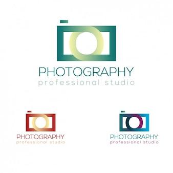 Logotipo câmera fotográfica
