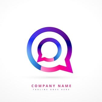 logotipo colorido de bate-papo