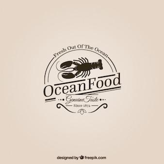 Logotipo comida Oceano