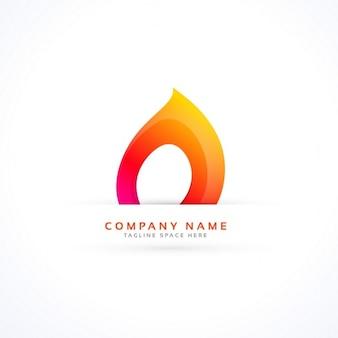 Logotipo da chama criativa no estilo abstrato