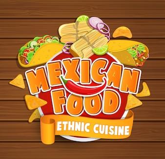 Logotipo da comida mexicana.