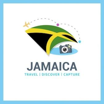 Logotipo da Jamaica curso da bandeira