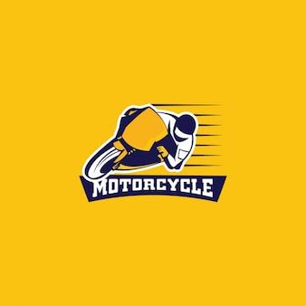 Logotipo da motocicleta em um fundo amarelo