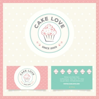 Logotipo da padaria e cartão de visita