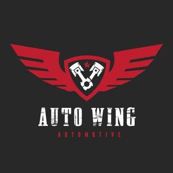 Logotipo de carro e automotivo com modelo de logotipo de símbolo de águia e asa.