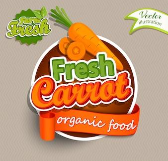 Logotipo de cenoura fresca.