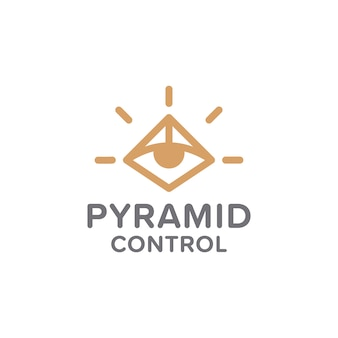 Logotipo de controle de pirâmide