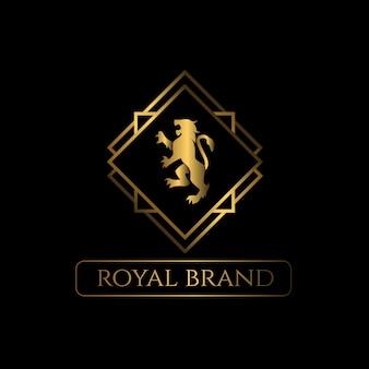 Logotipo de luxo leão