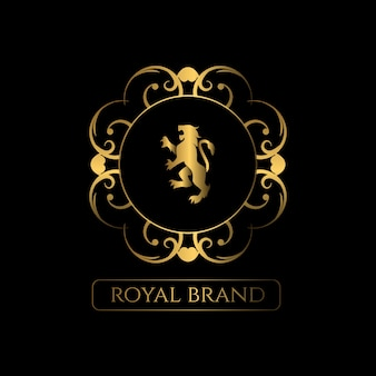 Logotipo de ornamento de luxo