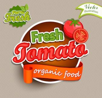 Logotipo de tomate fresco.