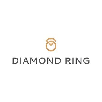 Logotipo do anel de diamante