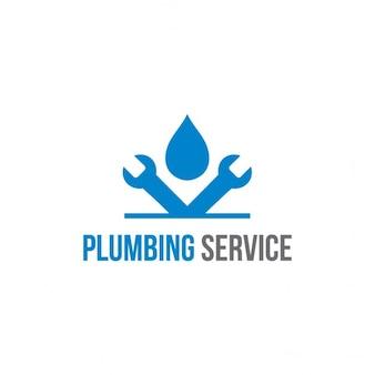 Logotipo do encanamento Serviço