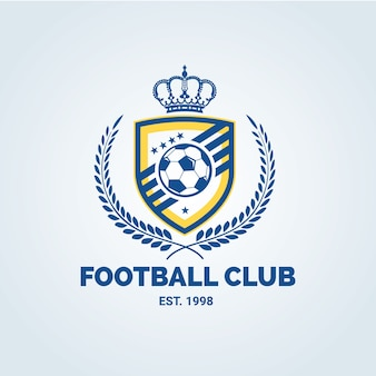 Logotipo do futebol, logotipo do futebol, logotipo da equipe esportiva, vectorTemplate