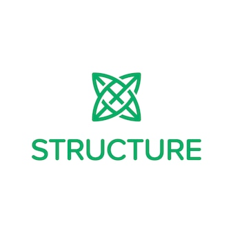 Logotipo do símbolo da estrutura
